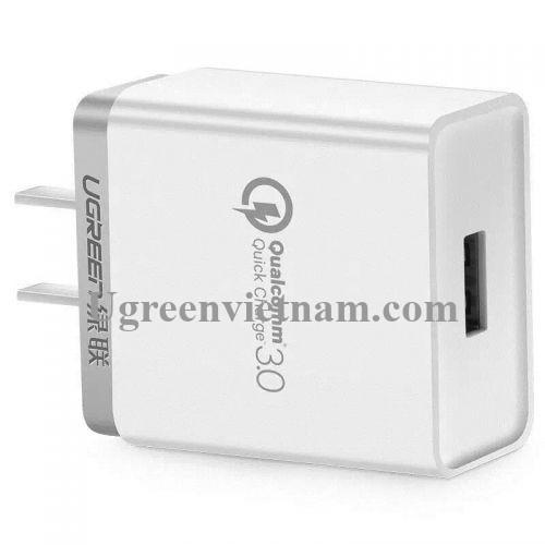 Ugreen 20839 30W màu Trắng Củ sạc nhanh cổng USB chuẩn QC 3.0 CD122