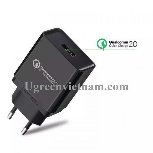 Ugreen 30387 30W màu Đen Củ sạc nhanh cổng USB chuẩn QC 3.0 CD122