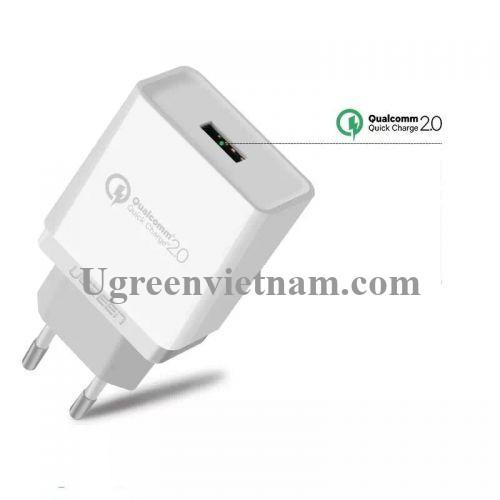 Ugreen 30388 30W màu Trắng Củ sạc nhanh cổng USB chuẩn QC 3.0 CD122