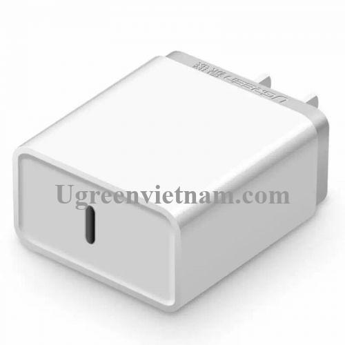 Ugreen 20760 30W màu Trắng Củ sạc nhanh cổng TypeC chuẩn QC 3.0 CD127