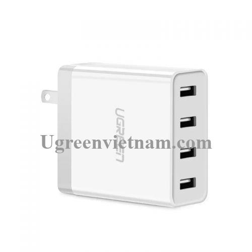 Ugreen 30991 34W màu Trắng Củ sạc nhanh 4 cổng USB 2.4A CD147