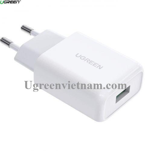 Ugreen 10133 18W QC3.0 màu Trắng Củ sạc nhanh cổng USB CD122 20010133
