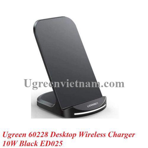 Ugreen 60228 10W Qi Dock Sạc nhanh không dây cho điện thoại màu đen ED205 20060228