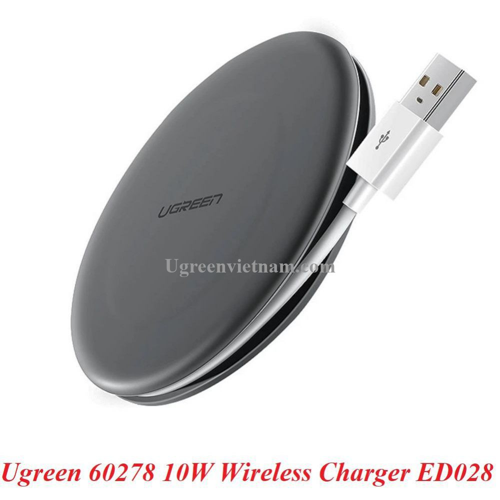 Ugreen 60278 10W 1M Bộ sạc không dây sạc nhanh ED028 20060278