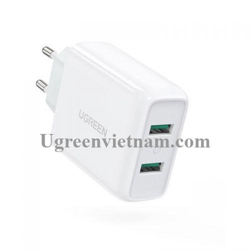 Ugreen 70163 36W QC3.0 2 cổng USB Màu trắng Củ sạc nhanh CD161 20070163