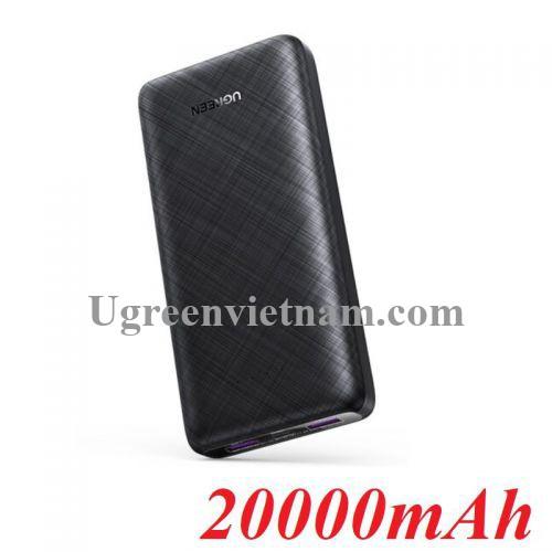 Ugreen 80597 20000mAh hai chiều Pin sạc dự phòng nhựa màu đen ABS PB175 20080597