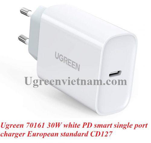 Ugreen 70161 30W PD3.0 màu trắng usb type c sạc nhanh CD127 20070161