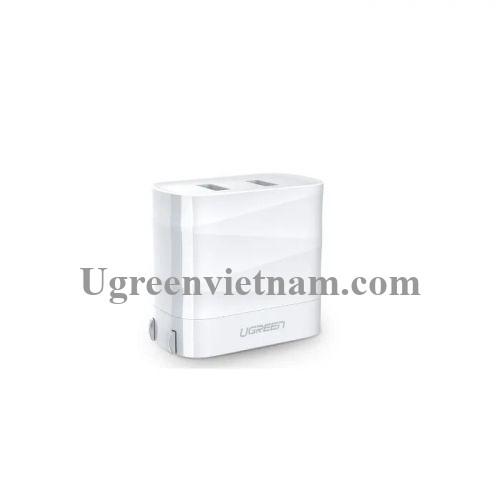 Ugreen 50955 Màu Trắng Củ sạc nhanh 2 cổng USB 3.1A + 2.4A US CD146
