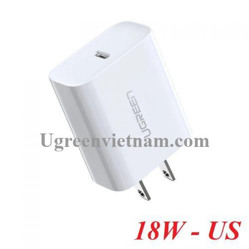 Ugreen 60449 18w usb type c sạc nhanh pd 3.0 màu trắng US CD137 20060449