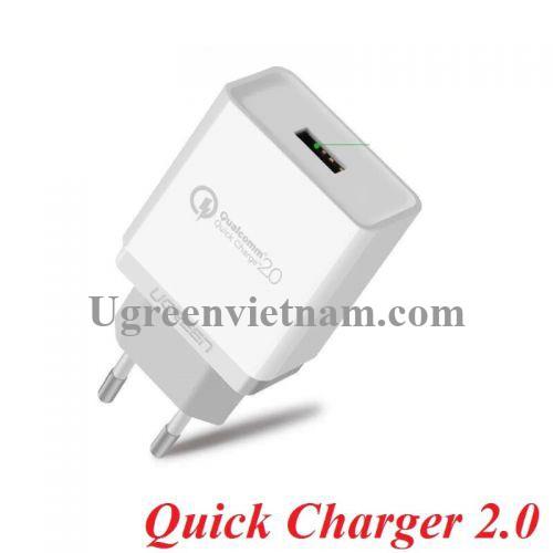 Ugreen 20901 Màu Trắng Củ sạc nhanh Quick Charge 2.0 CD122