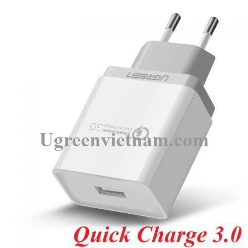 Ugreen 20909 Màu Trắng Củ sạc nhanh Quick Charge 3.0 CD122