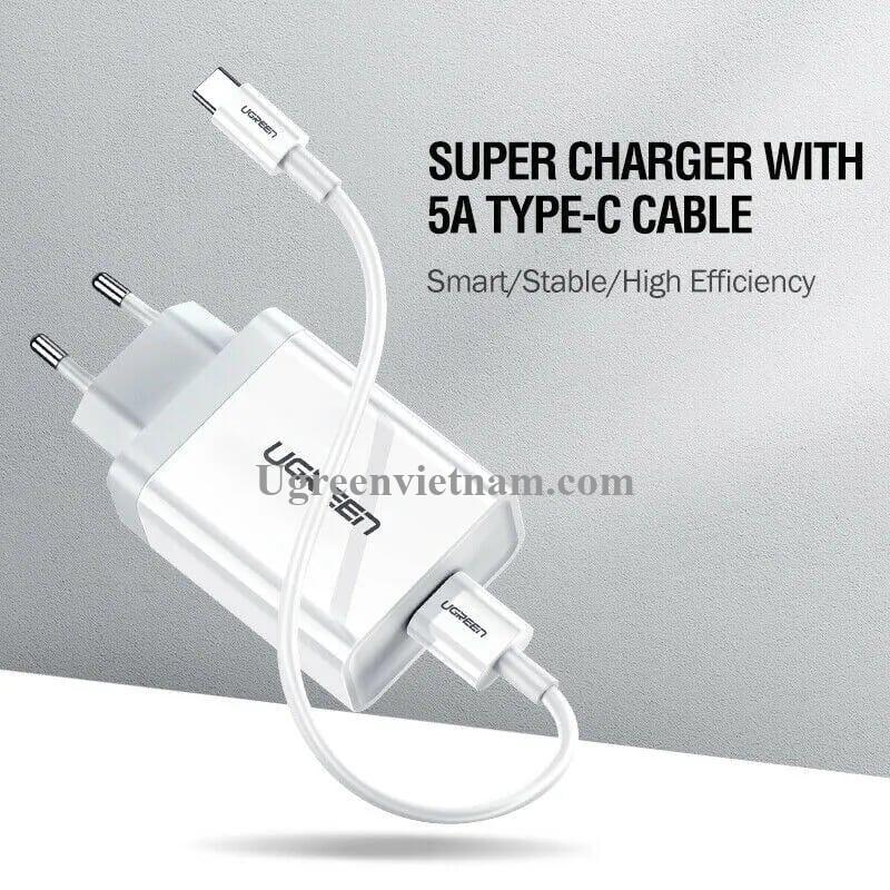 Ugreen 60271 5V 4.5A sạc siêu nhanh usb chuẩn qc3.0 màu trắng CD179 20060271