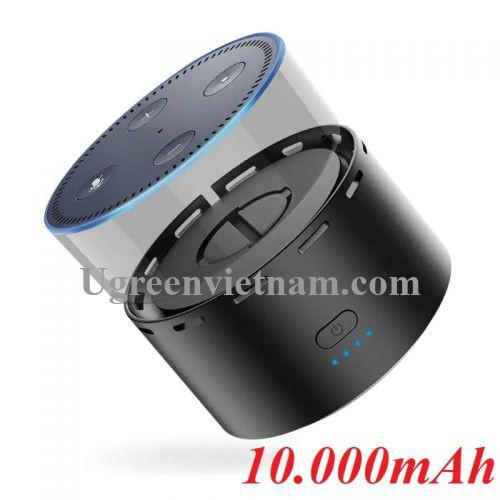 Ugreen 50757 10000mAh pin sạc dự phòng cho loa amazon Echo Dot 2nd thế hệ 2 màu đen CP612 20050757