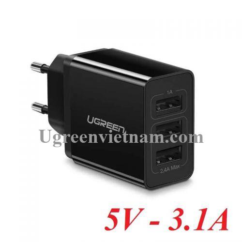 Ugreen 50816 3.1A 3 cổng sạc đa năng USB 5V màu đen ED013 20050816