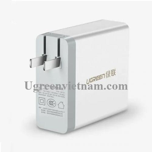 Ugreen 65W Màu Trắng Củ sạc USB Type C CD127