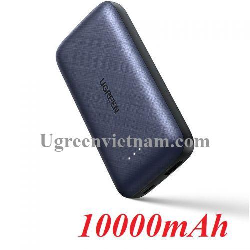 Ugreen 10398 10000mAh màu Xanh đen Sạc dự phòng + cáp sạc iPhone tích hợp kèm chip MFI PB172 20010398