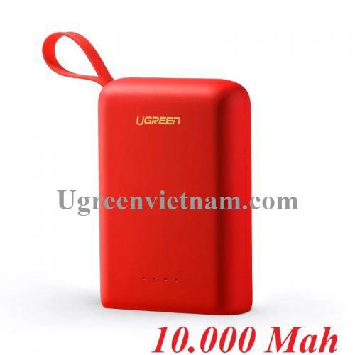 Ugreen 60198 Màu Đỏ Pin sạc dự phòng dung lượng 10000Mah PB133