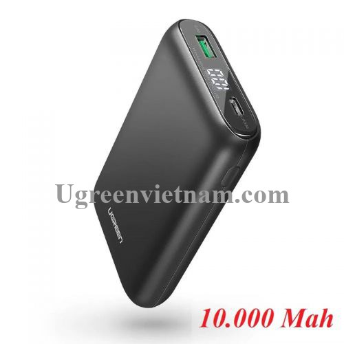 Ugreen 70399 Màu Đen Pin sạc dự phòng dung lượng 10000Mah USB-C PD PB137