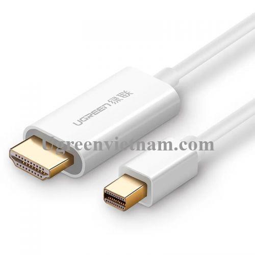 Ugreen 50286 Màu Trắng Cáp chuyển đổi Mini DisplayPort sang HDMI dương CM155 20050286