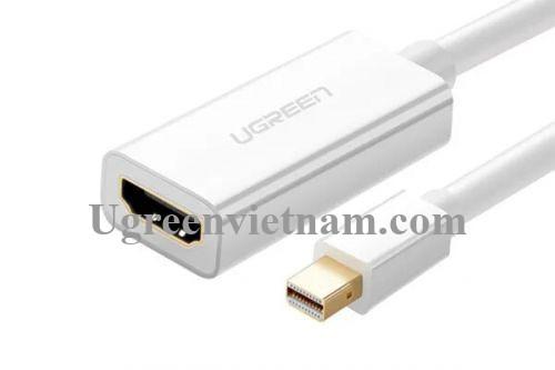 Ugreen 50287 Màu Trắng Cáp chuyển đổi Mini DisplayPort sang HDMI âm CM156 20050287