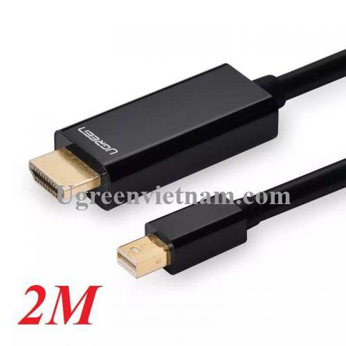 Ugreen 10435 2M màu Đen Cáp chuyển đổi Mini DP sang HDMI hỗ trợ phân phải 1080P MD101