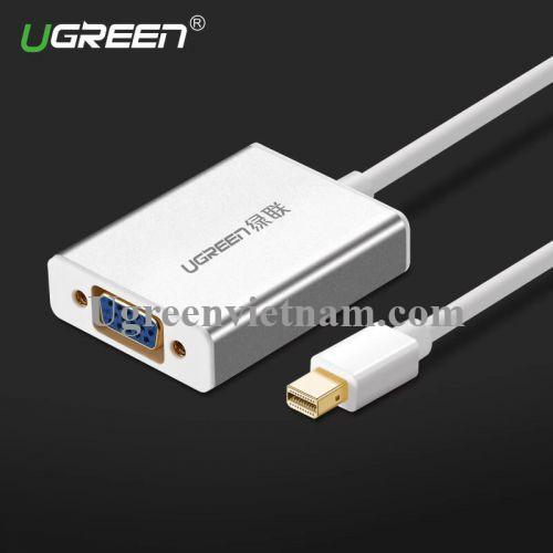 Ugreen 10403 Màu Trắng Cáp chuyển đổi Mini DP sang VGA vỏ nhôm không Audio MD107 20010403