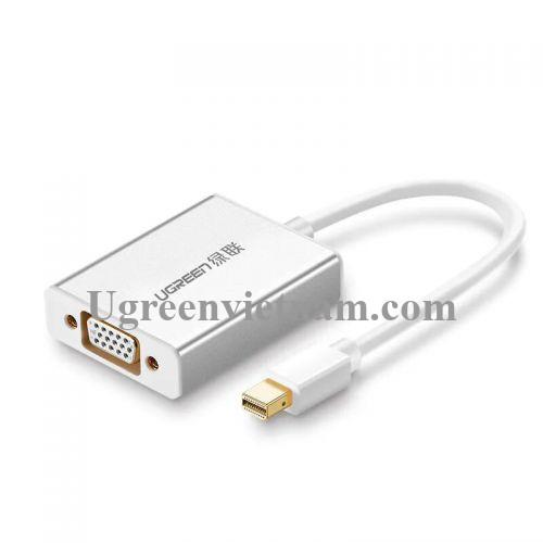 Ugreen 10437 Màu Trắng Cáp chuyển đổi Mini DP sang VGA vỏ nhôm có Audio MD107 20010437