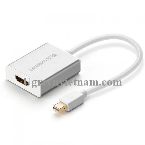 Ugreen 10401 Màu Trắng Cáp chuyển đổi Mini DP sang HDMI hỗ trợ phân giải FULL HD MD110 20010401