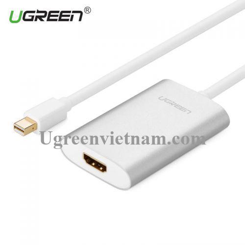 Ugreen 10451 60CM Màu Trắng Cáp chuyển đổi Mini DP sang HDMI hỗ trợ phân giải 4K x 2K MD110 20010451