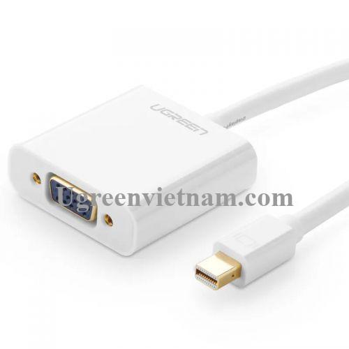 Ugreen 10458 Màu Trắng ABS Cáp chuyển đổi Mini DP sang VGA 1920x1080 60Ghz MD113 20010458