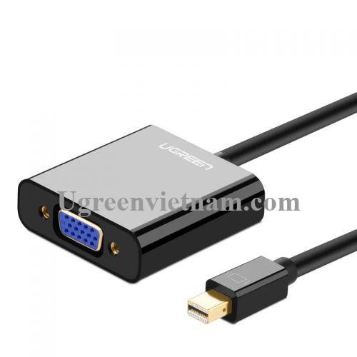 Ugreen 10459 Màu Đen ABS Cáp chuyển đổi Mini DP sang VGA 1920x1080 60Ghz MD113 20010459