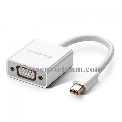 Ugreen 50513 Màu Trắng Cáp chuyển đổi Mini DP sang VGA cao cấp MD113 20050513