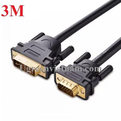 Ugreen 11618 3M màu Đen Cáp chuyển đổi DVI 24+5 sang VGA DV102