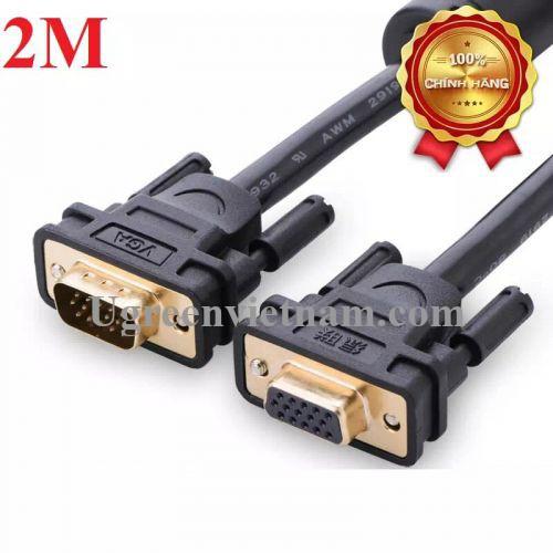 Ugreen 11614 2M màu Đen Cáp tín hiệu nối dài VGA đầu mạ vàng VG103