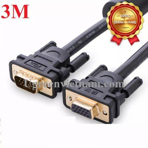 Ugreen 11615 3M màu Đen Cáp tín hiệu nối dài VGA đầu mạ vàng VG103