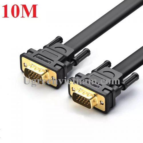 Ugreen 11670 10M màu Đen Cáp tín hiệu 2 đầu VGA cáp dẹt VG105