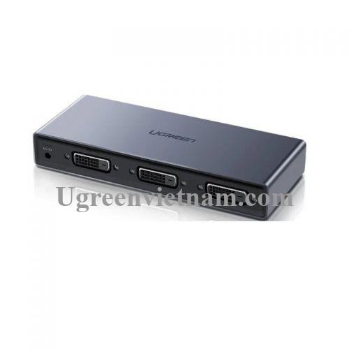 Ugreen 50746 Màu Đen Bộ chia DVI 1 ra 2 DVI 24+1 hỗ trợ 1920x1080P CM202