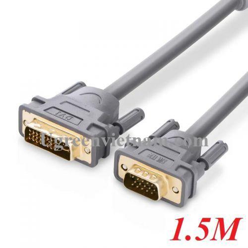 Ugreen 11659 1.5M màu Xám Cáp chuyển đổi DVI 24+5 sang VGA DV 104