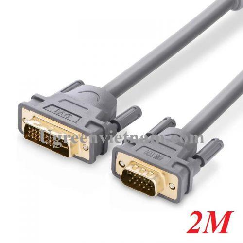 Ugreen 11660 2M màu Xám Cáp chuyển đổi DVI 24+5 sang VGA DV104