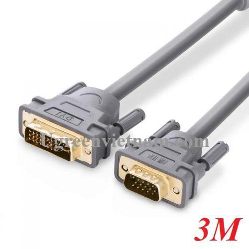 Ugreen 11661 3M màu Xám Cáp chuyển đổi DVI 24+5 sang VGA DV104