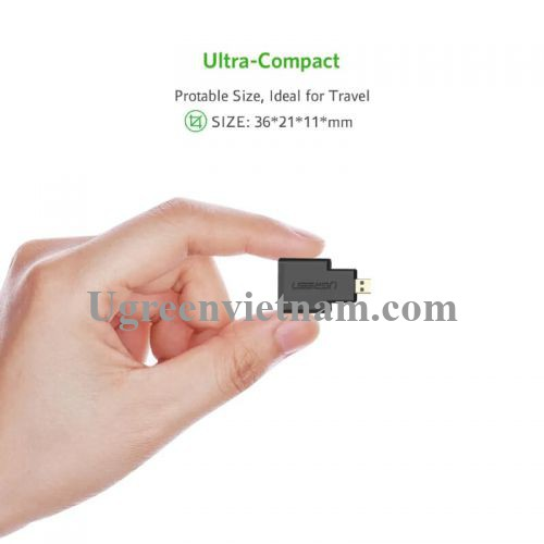 Ugreen 20106 Màu Đen Đầu chuyển đổi Micro HDMI sang HDMI 20106 20020106