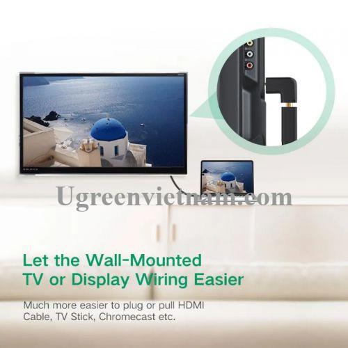 Ugreen 20109 Màu Đen Đầu nối dài HDMI gập 90 độ HD112 20020109