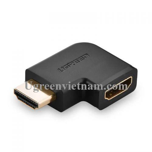Ugreen 20111 Màu Đen Đầu nối dài HDMI gập sang trái 90 độ 20111