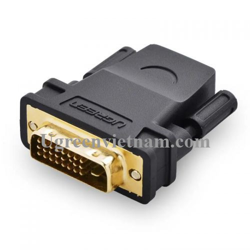 Ugreen 20124 Màu Đen Đầu chuyển đổi DVI 24+1 sang HDMI âm 20124