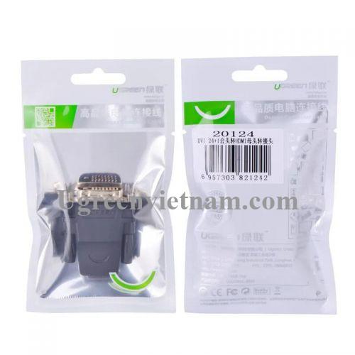 Ugreen 20124 Màu Đen Đầu chuyển đổi DVI 24 + 1 sang HDMI âm 20124 20020124