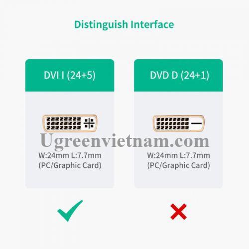 Ugreen 20136 Màu Đen Đầu chuyển đổi HDMI sang DVI 24 + 5 âm 20136 20020136