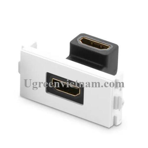 Ugreen 20318 Màu Đen Mặt nạ HDMI âm tường gập 90 độ cao cấp MM113