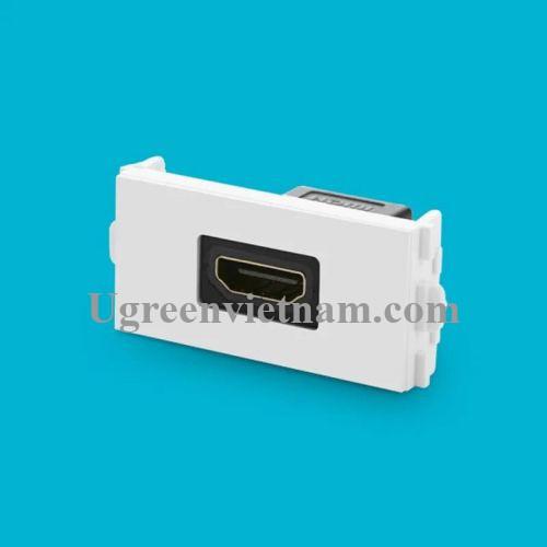 Ugreen 20317 Màu Đen Mặt nạ HDMI âm tường cao cấp MM113 20020317