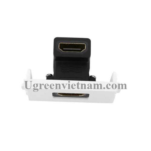 Ugreen 20318 Màu Đen Mặt nạ HDMI âm tường gập 90 độ cao cấp MM113 20020318