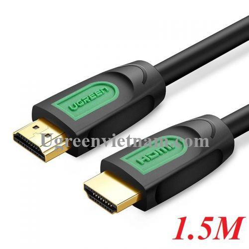 Ugreen 40461 1.5M màu Đen Cáp tín hiệu HDMI chuẩn 1.4 hỗ trợ phân giải 4K * 2K HD101 20040461